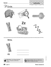 Phonics: Consonant Zz Worksheet