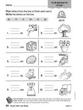 Phonics: Initial r and l Blends Worksheet