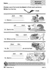 Final -ck Worksheet