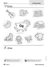Phonics: Consonant Gg Worksheet