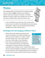 Writer's Guide: Voice Worksheet