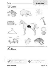 Consonant Hh Worksheet
