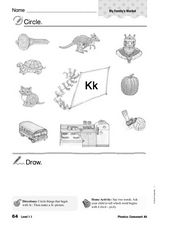 Phonics: Consonant K Worksheet