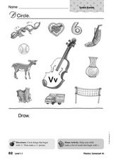 Phonics: Consonant Vv Worksheet