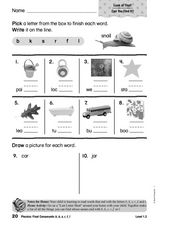 Phonics: Consonants b/k/s/r/f/l Worksheet