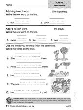 Phonics: Inflected Endings s and ing Worksheet