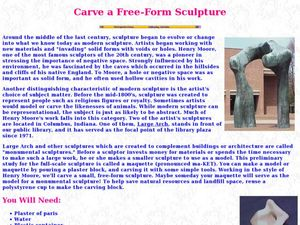 Carve a Free-Form Sculpture Lesson Plan