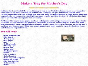 Make a Tray for Mother's Day Lesson Plan