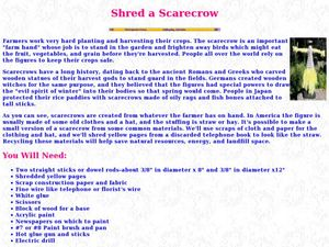 Shred a Scarecrow Lesson Plan