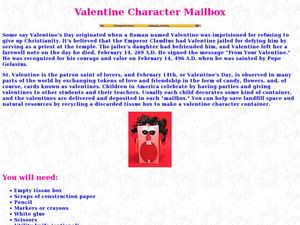 Valentine Character Mailbox Lesson Plan