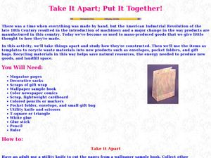 Take It Apart; Put It Together Lesson Plan