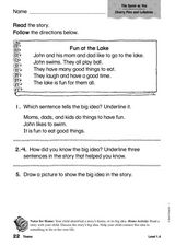Cherry Pies and Lullabies: Theme Worksheet