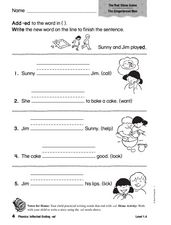 The -ed Ending Worksheet
