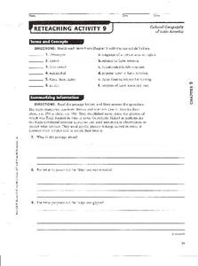 Cultural Geography of Latin America Worksheet