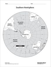 Southern Hemisphere Map Worksheet