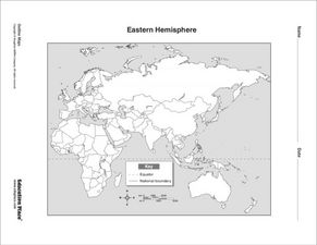 Hemisphere lesson plans worksheets lesson planet eastern hemisphere map gumiabroncs Images