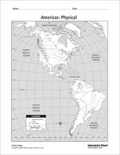 Americas: Physical Map Worksheet
