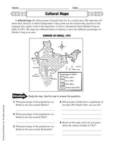 Cultural Maps Worksheet
