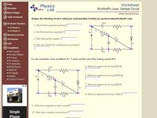 Kirchhoff's Laws: Sample Circuit Interactive