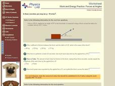 Work and Energy Practice: Forces at Angles Interactive
