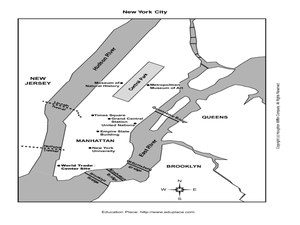 New York City Map Worksheet