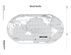 World Pacific Map Graphic Organizer