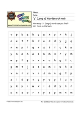 Long e Wordsearch Worksheet