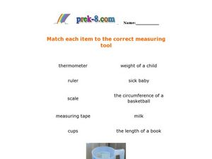 Measuring Tools Worksheet
