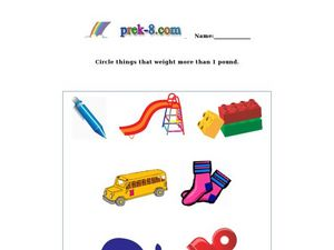 Measuring Pounds Worksheet