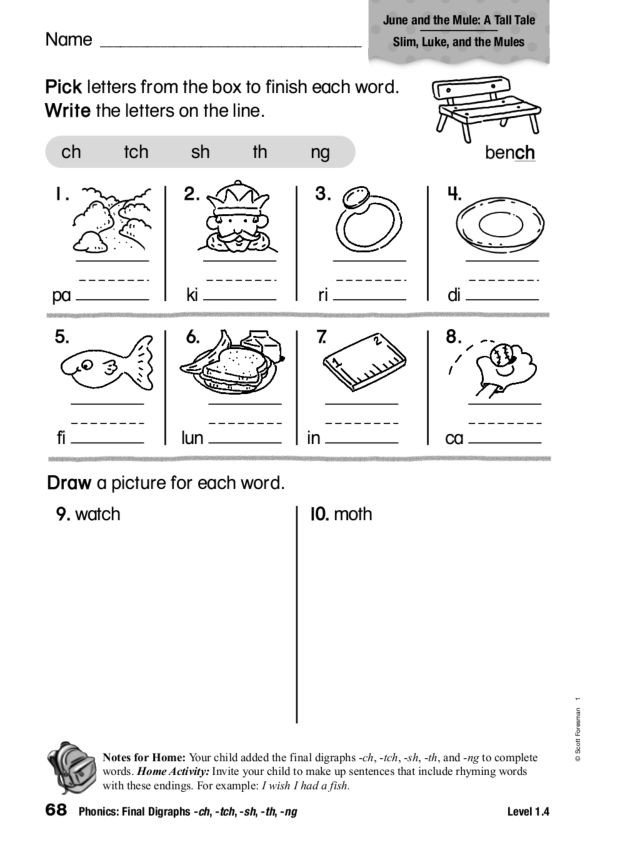 Digraphs Ch and Tch Lesson Plans Worksheets Reviewed by Teachers – Digraph Worksheets for First Grade