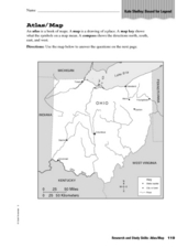 Research and Study Skills: Atlas/Map Worksheet