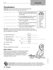 Vocabulary: Faith and Eddie Worksheet