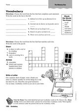 Vocabulary: The Memory Box Worksheet