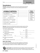 Vocabulary: Eloise Greenfield Worksheet