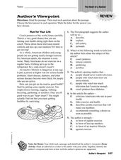 Author's Viewpoint Worksheet