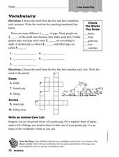 Vocabulary: I Love Guinea Pigs Worksheet