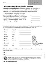 """I Love Guinea Pigs"": Compound Words Worksheet"