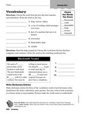 Vocabulary: Amazing Alice! Worksheet