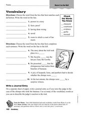 Vocabulary: Blame It On The Wolf Worksheet