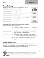 Vocabulary: The Disguise Worksheet
