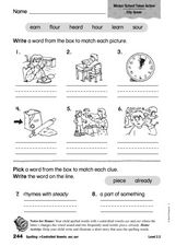 Vocabulary Words Activities Worksheet