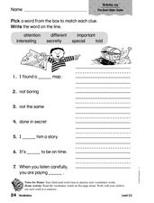 Vocabulary: Birthday Joy Worksheet