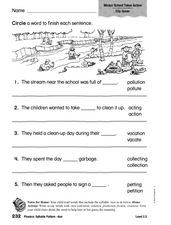Phonics: Syllable Pattern -tion Worksheet