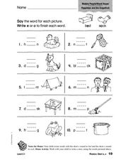 Phonics: Short o/e Worksheet