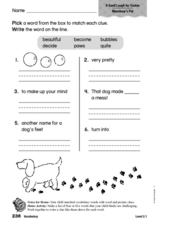 Vocabulary: A Good Laugh for Cookie Worksheet