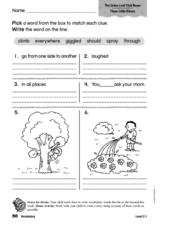Vocabulary: The Green Leaf Club News Worksheet