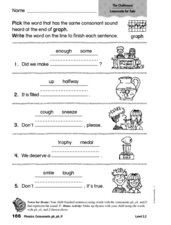 "Completing Sentences: Words With ""f"" or ""ph"" Worksheet"