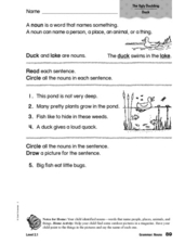 Grammar: Nouns: The Ugly Duckling Worksheet
