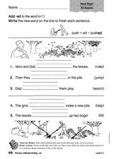 Phonics: Inflected Endings -ed Worksheet