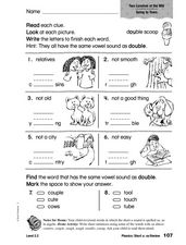 Phonics: Short u: ou Review Worksheet